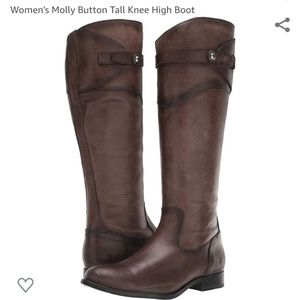 Frye Molly Button Tall Boots sz 8B - NWOT